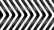 Black and white abstract glossy stripes motion background video