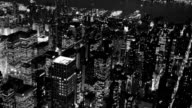 black and white background of city at night video