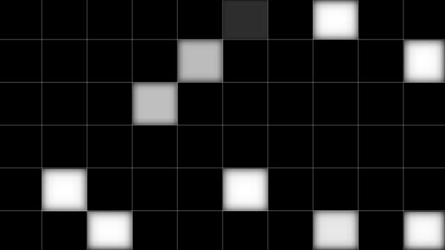 Black and White Checkerboard Mosaic Matte video