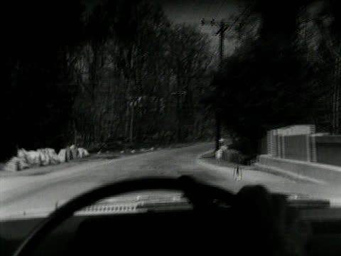 Black and White driving SHot video