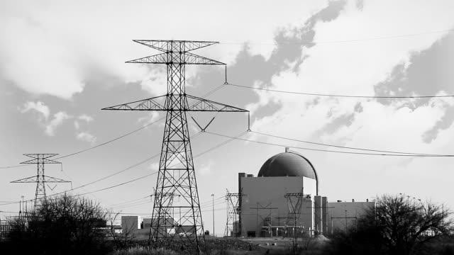 Black and White Nuclear Power Plant video