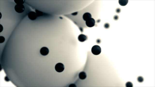 Black and white spheres animated. Abstract background. Loopable. video