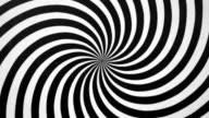Black and White Spiral Spinning Right video