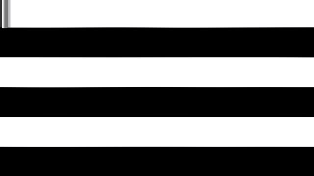 Black and white stripes cover screen. video