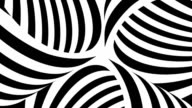 Black and white tubes with moving stripes video