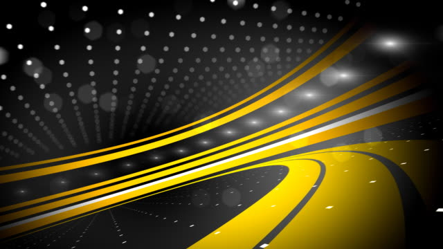 Black and Yellow Abstract Background Loop (Full HD) video