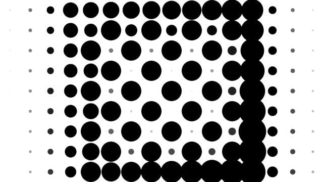 CHESSBOARD PATTERN : black dots, spiral progress, finally erased (TRANSITION) video