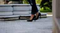 Black female shoes video