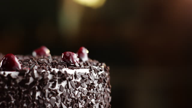 Black forest cake with cherries on top video