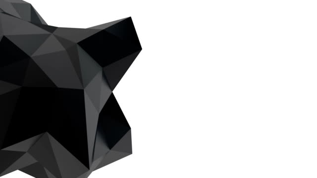Black geometric shape video