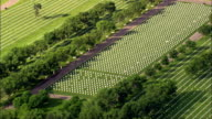 Black Hills National Cemetery  - Aerial View - South Dakota,  Meade County,  United States video
