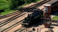 -Black Hills Steam Engine  - Aerial View - South Dakota,  Custer County,  United States video