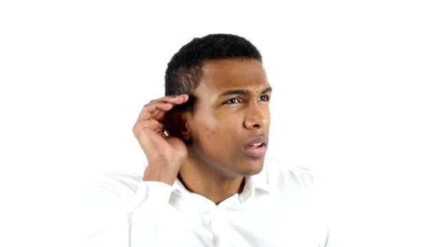 Black Man Listening Carefully Secret video