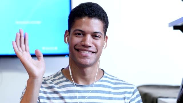 Black Man Talking to Camera, Online Video Chat video