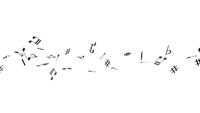 Black Musical Notes On White Background video