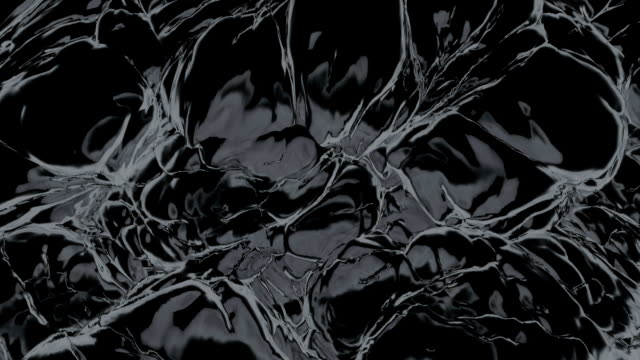 Black noisy matter. (loop-ready file) video
