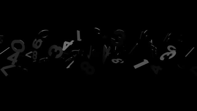 Black Numbers On Black Background video