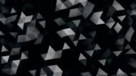 black polygonal surface 3D render seamless loop video