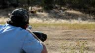 Black powder rifle over shoulder video