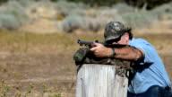 Black powder rifle practice Slow video