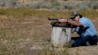 Black powder rifle shoot video