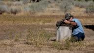 Black powder rifle target practice Slow video
