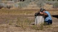 Black powder rifle target practice video
