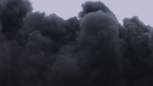 Black smoke polluting the environment. video
