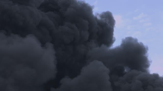 Black smoke rising into the air. video
