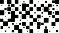 CHESSBOARD PATTERN : black squares, chaotic progress, finally disappear (TRANSITION) video