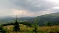 Black storm clouds video