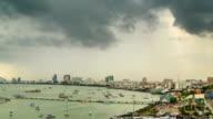 Black Stormy Rain Panning Timelapse video