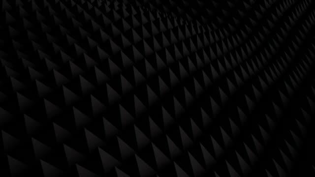 Black surface waving 3D render. Seamless loop animation video