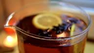Black tea in glass kettle video