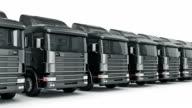 black truck. 3D rendering video