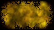 Black Vines Border Background Animation - Loop Yellow video