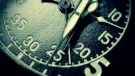 Black vintage stopwatch close up video