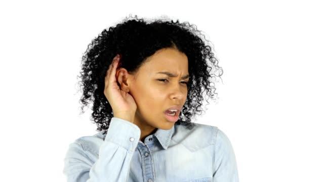 Black Woman Listening Carefully video