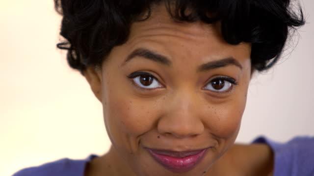 Black woman pretending to accidentally swallow bubble gum video