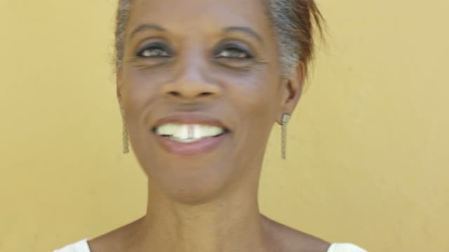 Black woman smiling video
