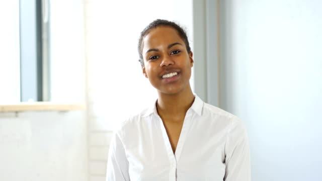 Black Woman Video Chat, Camera View video
