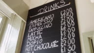 Blackboard Drinks Menu video