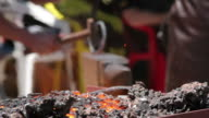 Blacksmith hard at work video
