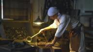 Blacksmith preparing his workshop video