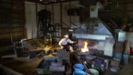 Blacksmith preparing workshop video