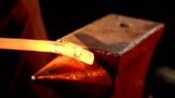 Blacksmith working. video