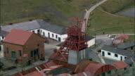 Blaenavon And Big Pit  - Aerial View - Wales, Torfaen County Borough, Blaenavon, United Kingdom video
