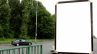 Blank Advertising Billboard (portrait)- White Screen video