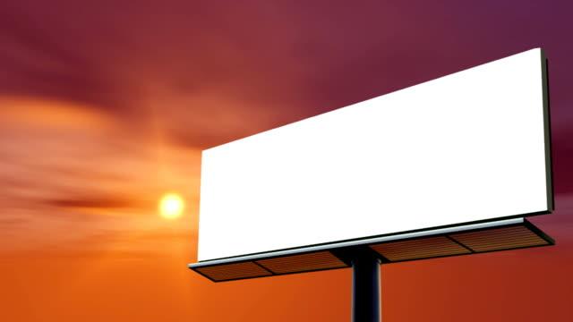 Blank billboard. Clouds timelapse. HD720p. video