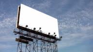 Blank Billboard. Timelapse clouds. video